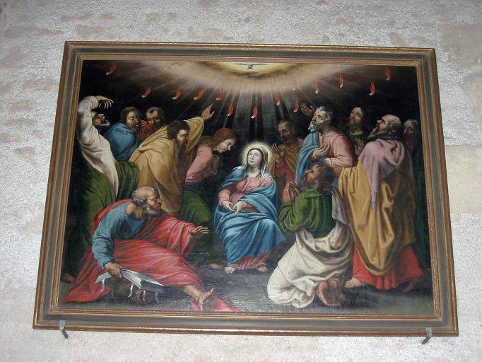 Panneau peint : Pentecôte