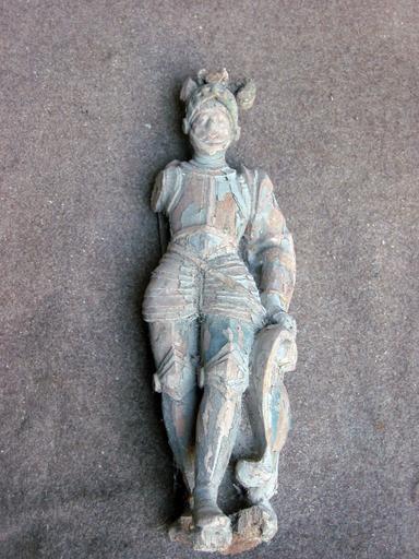 Statuette de bâton de procession : Saint Julien (déposé en mairie)