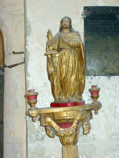 Bâton de procession de confrérie : Christ