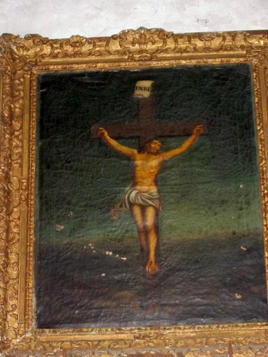 Tableau : Christ en croix, cadre