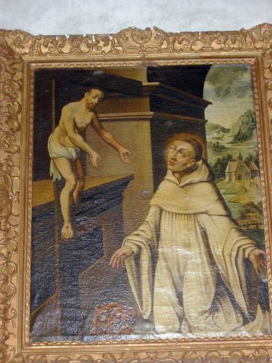 Tableau : Vision de saint Bernard, cadre