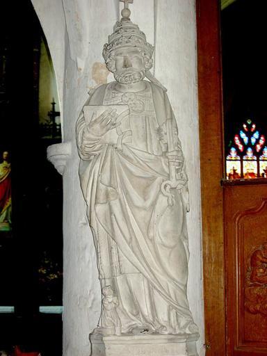 Groupe sculpté : Saint Pierre et donateur