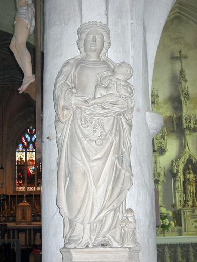 Groupe sculpté : Vierge à l'Enfant et donateur