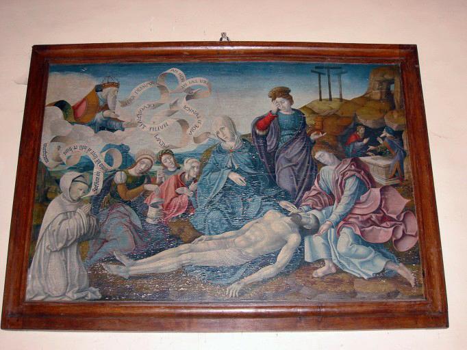 Panneau peint : Vierge de Pitié ou Descente de Croix (?)