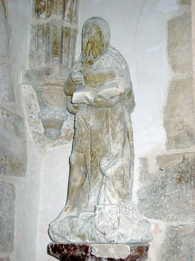 Statue : Saint Jean-Baptiste et donateur