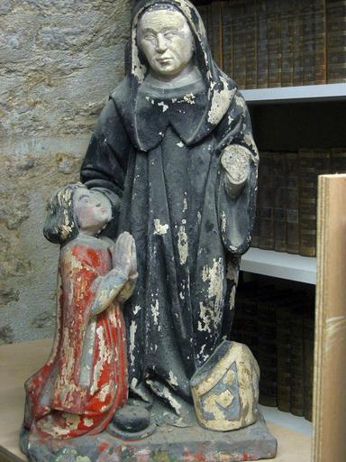 Groupe sculpté : Saint Bernard avec donateur