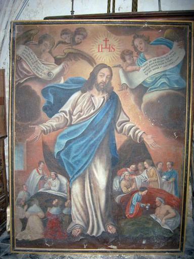 Tableau : Christ et les oeuvres de miséricorde