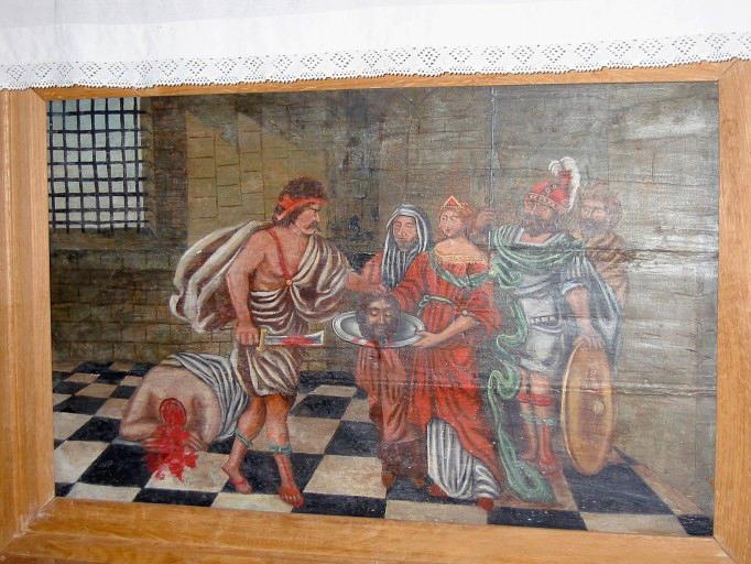 Panneau peint : Décollation de saint Jean-Baptiste