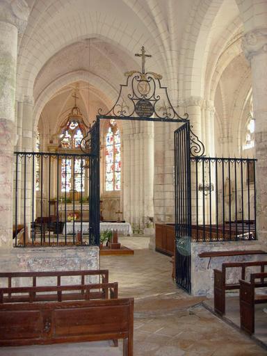 Clôture de choeur, croix