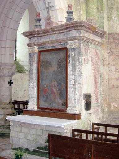 Ex-voto tableau : Sainte Tanche, tabernacle et autel