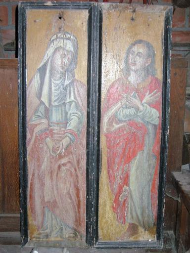 2 tableaux : Saint Jean et Vierge de Calvaire