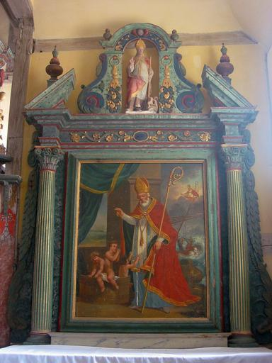 Autel, retable de saint Nicolas