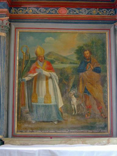 Tableau : Saint Julien et saint Blaise