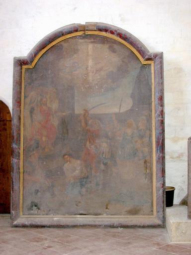 Tableau d'autel : Martyre de saint Symphorien