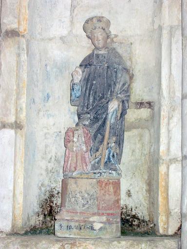 Groupe sculpté : Saint avec donateur
