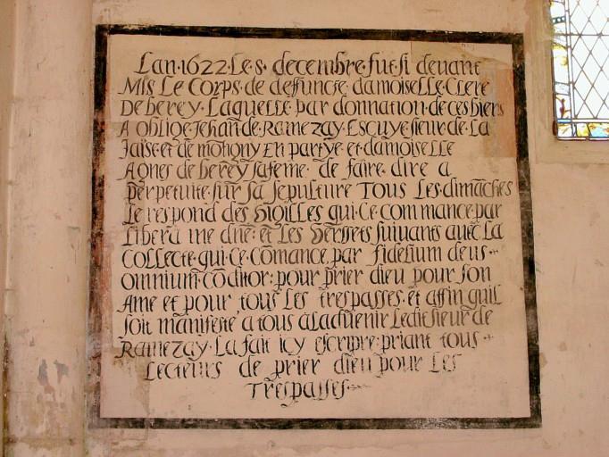 Monument funéraire de Clere Deberey