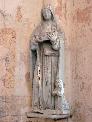 Statue : Sainte Savine et donatrice