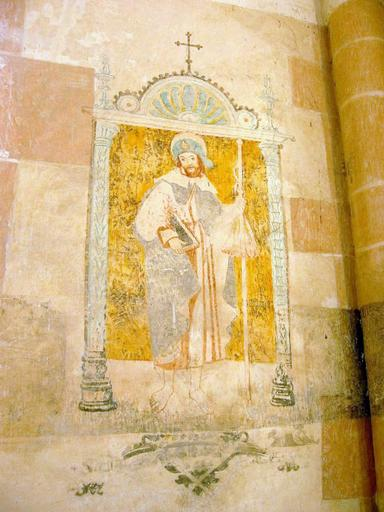 Peinture monumentale : Saint Jacques, saint Thomas