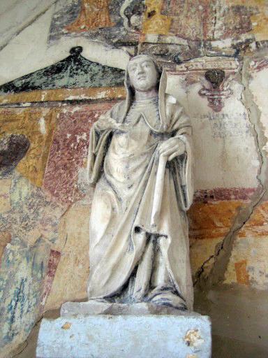 Statue : Abbé, saint Bernard (?)