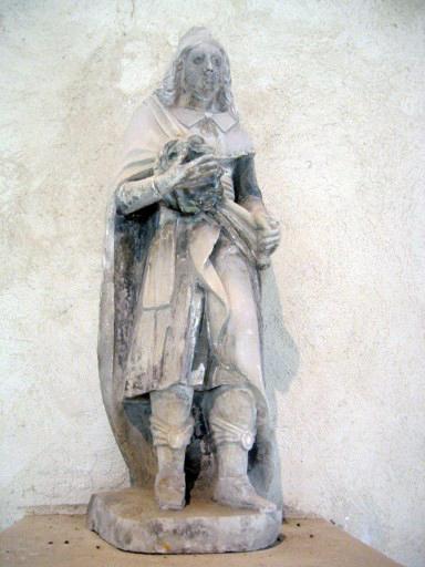 Statue : Saint Louis portant la couronne d'épines