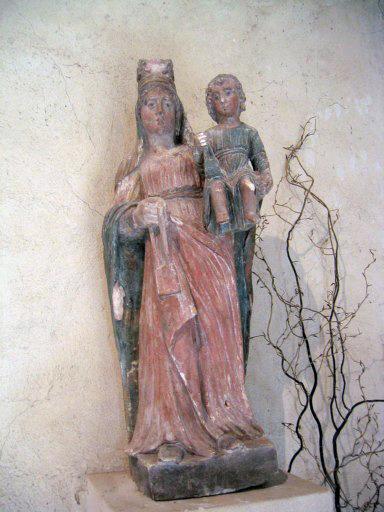 Statue : Vierge à l'Enfant au scapulaire