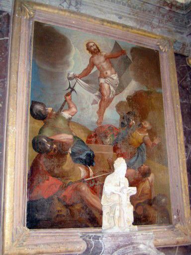 Tableau d'autel : Résurrection du Christ, cadre