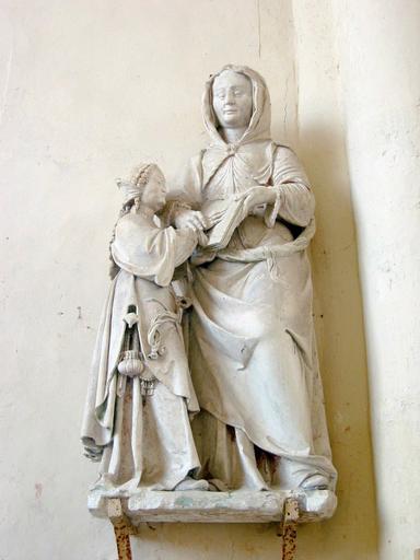 Groupe sculpté (grandeur nature) : Éducation de la Vierge