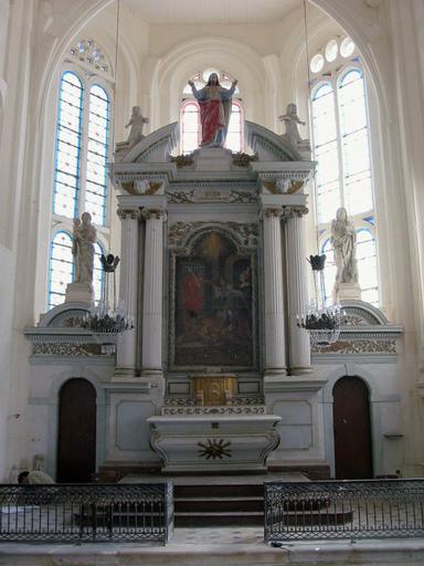 Maître-autel, retable, tabernacle, clôture