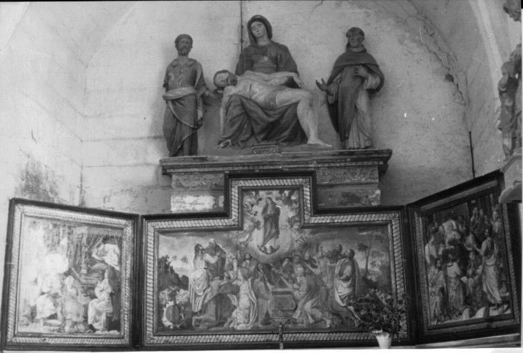 Triptyque : Scènes de la vie de la Vierge : Naissance, Mort et Assomption