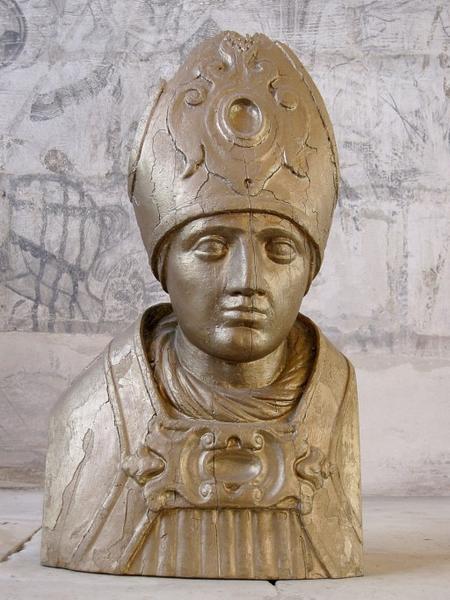 Buste-reliquaire : Saint évêque