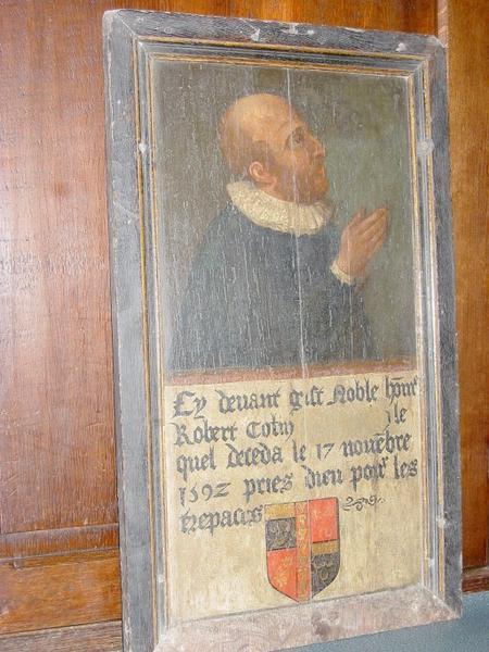 Tableau commémoratif (épitaphe de Robert Collin)