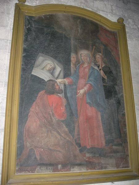 Tableau : Sainte Savine et Maximiniole visitant une malade