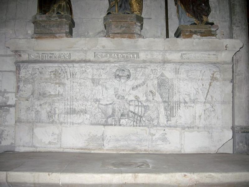 Peinture monumentale : Saint Nicolas, saint Martin, saint Edme