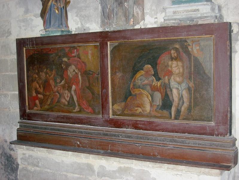 Volet de triptyque : Christ aux Limbes, Christ apparaissant à saint Pierre