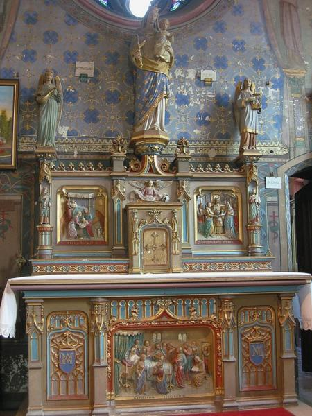 Autels latéraux, retables et tabernacles