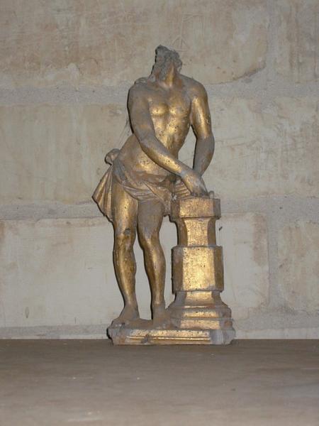 Statuette de bâton de procession : Christ aux liens