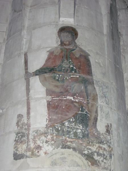 Peinture monumentale : Saint Pierre, saint Jacques le Majeur, saint Jacques-le-Mineur, saint Barthélemy, saint Jude