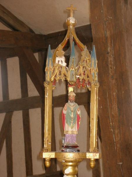 3 bâtons de procession de confrérie : Saint Éloi, saint Jacques et saint Philippe, Vierge