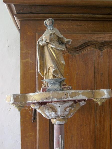 2 bâtons de procession de confrérie : Saint Éloi, la Vierge