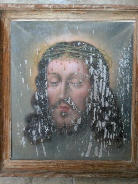 Panneau peint : Sainte Face