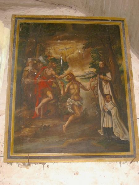 Tableau : Baptême du Christ, avec donateurs