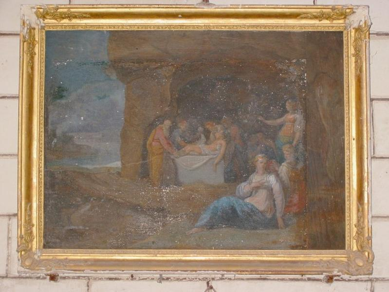 Panneau peint : Mise au tombeau