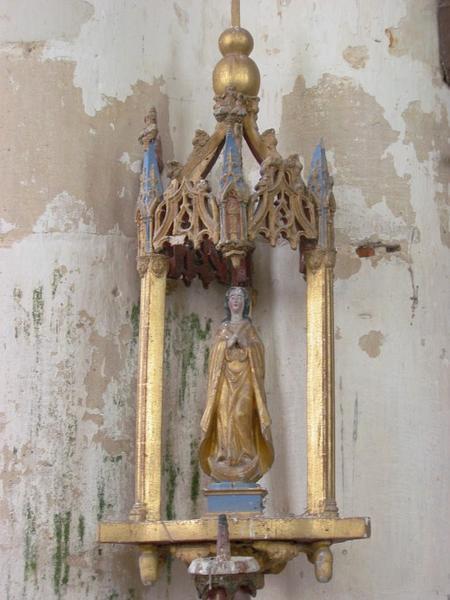 Bâton de procession de confrérie : Vierge