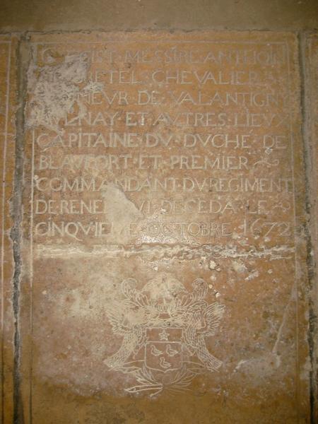 Dalle funéraire d'Anthoine de Bretel