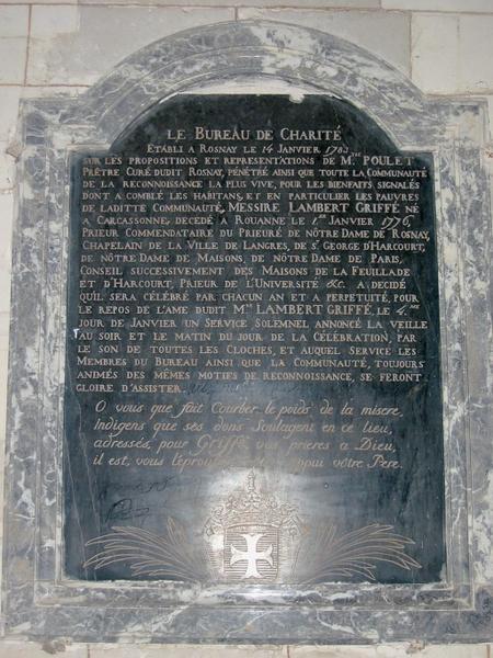 Plaque commémorative de fondation
