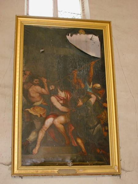 Tableau : Martyre de saint Vincent, cadre