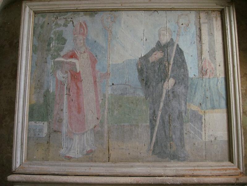 Panneau peint : Saint Cler et saint Robert (?)