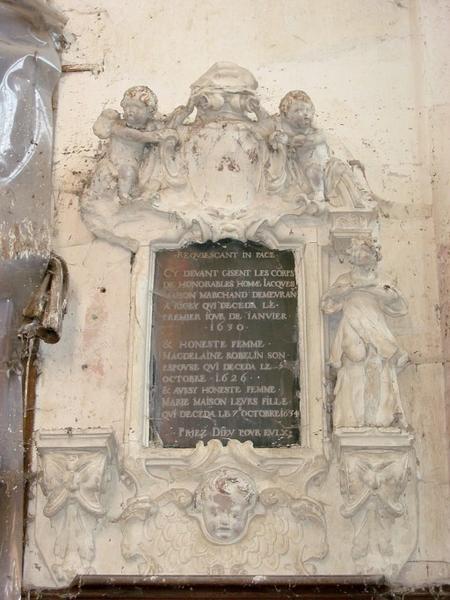 Monument funéraire de Jacques Maison et de sa femme
