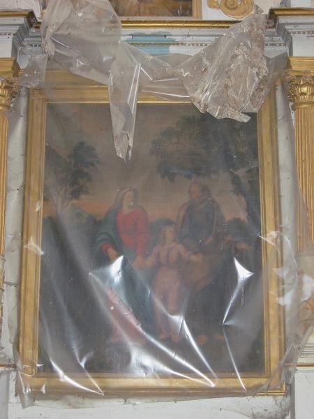 Panneau peint : Sainte Famille