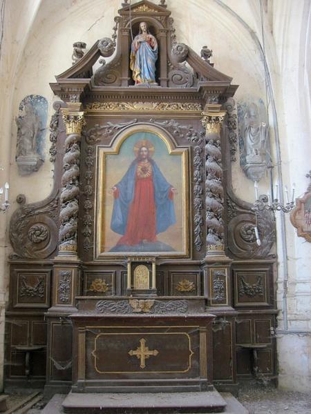 Retable de l'autel du Sacré-Cœur